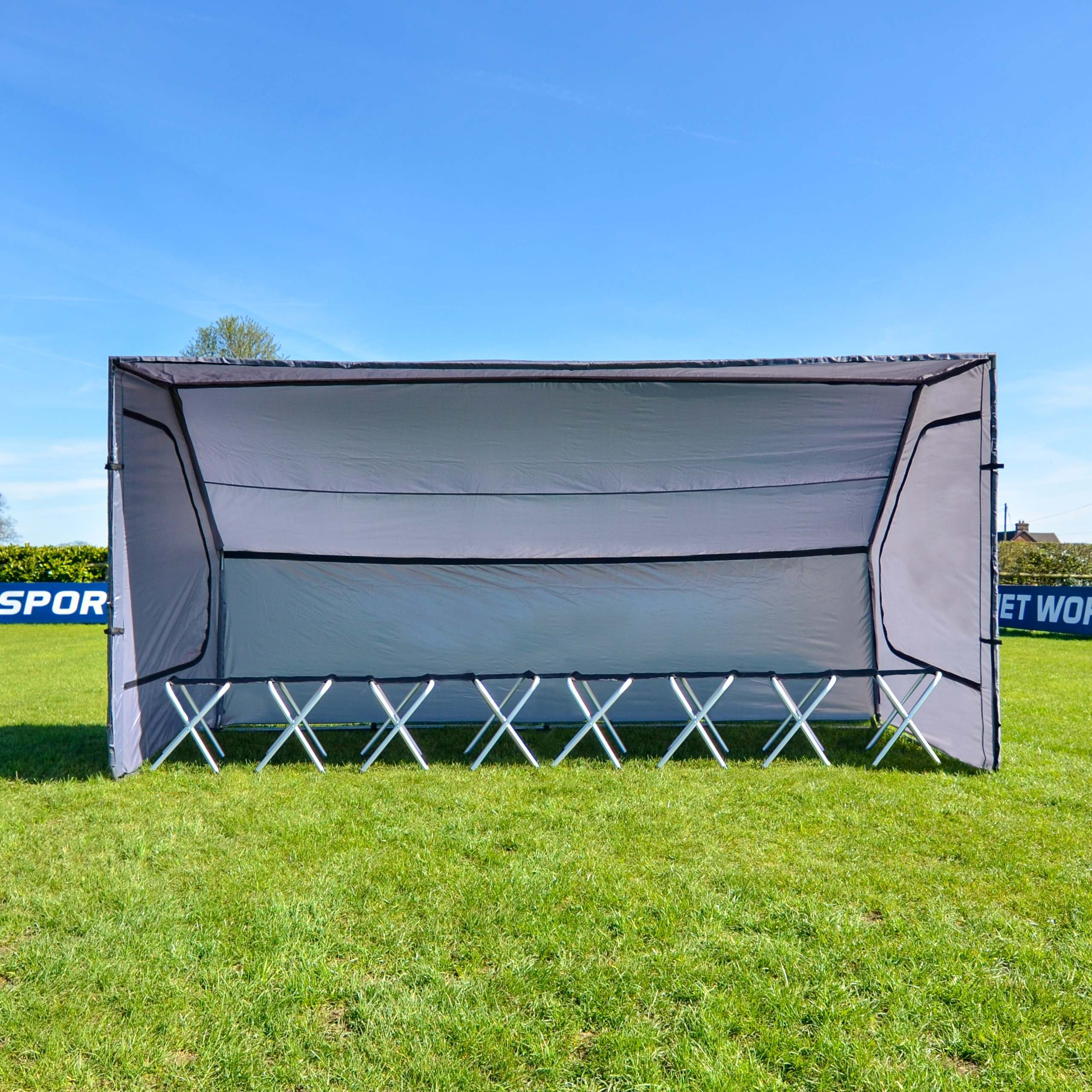 Athletic Field Shelters : Portable sports team shelter net world
