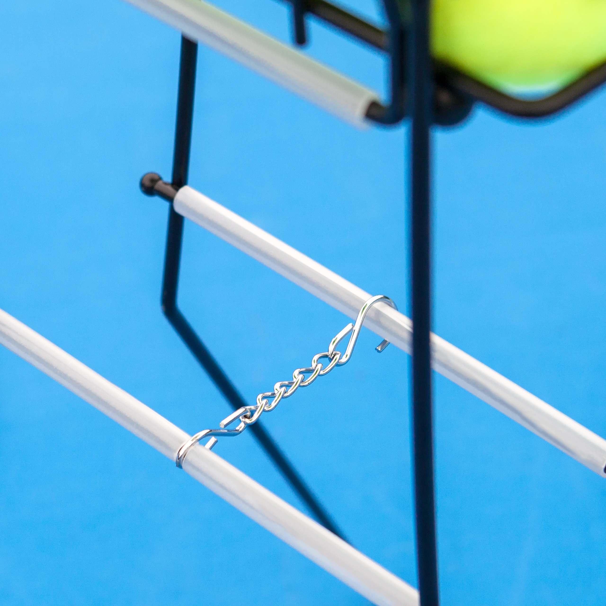 Tennis Ball Basket/Hopper Locking System